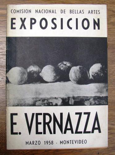 e. vernazza firmado exposicion bellas artes pintura 1958