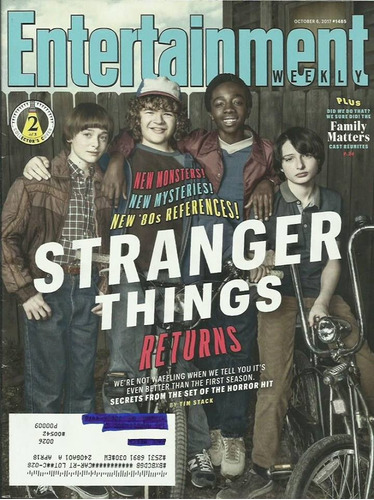 e weekly: stranger things / millie bobby brown / david bowie