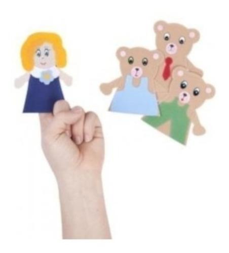 e098h títeres ricitos de oro y los 3 osos de dedo educar