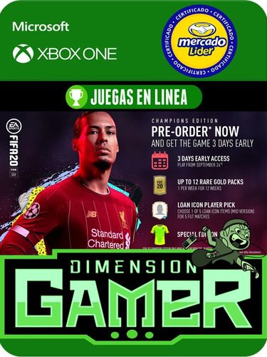 ea sports fifa 20 champions edition xbox one online/offline
