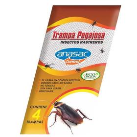 Ea Trampa Pegajosa Insectos Rastreros X4und