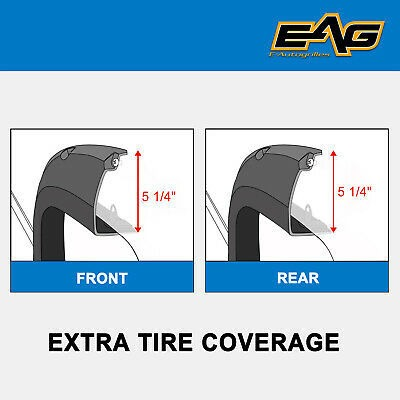 EAG Fit 59-86 Jeep Wrangler CJ5//6//7 Flat Style ABS Wide Body Fender Flares