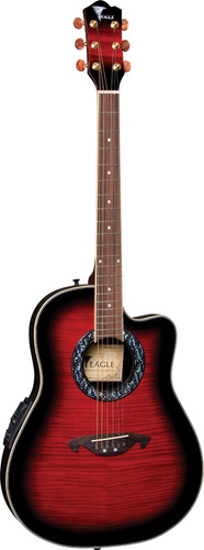 eagle ch306  violão aço elétrico fibra red  - frete grátis