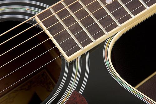 eagle ch889 violão elétrico folk aço : black - frete grátis