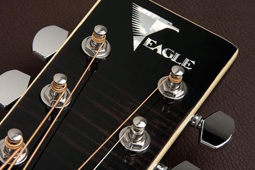 eagle gl36 violão aço el mini-jumbo black burst