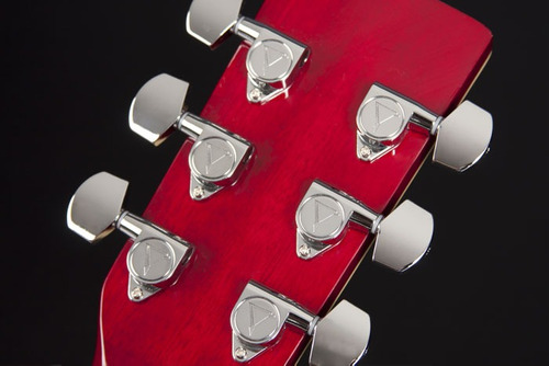 eagle gl36 violão aço el mini-jumbo red burst - frete grátis