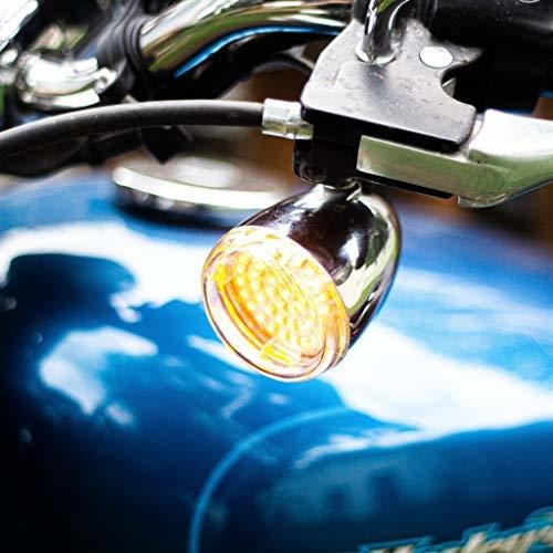 Front and Rear Amber for Harley Davidson Eagle Lights LED Generation II Turn Signals with White Running Lights 1156 LED Turn Signal Kit, Add Smoked Lenses 1157