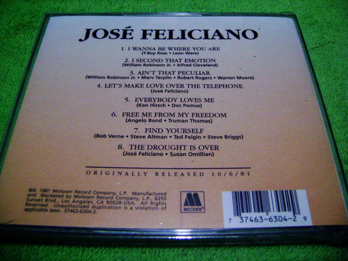 eam cd jose feliciano i wanna be where you are 1981 motown