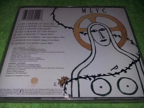 eam cd maxi madonna like a prayer + express yourself 1989