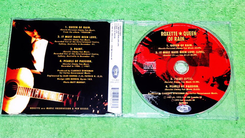 eam cd single roxette queen of rain 1992 + live versions emi
