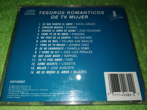 eam cd tesoros romanticos de tv mujer 1989 pandora jose luis