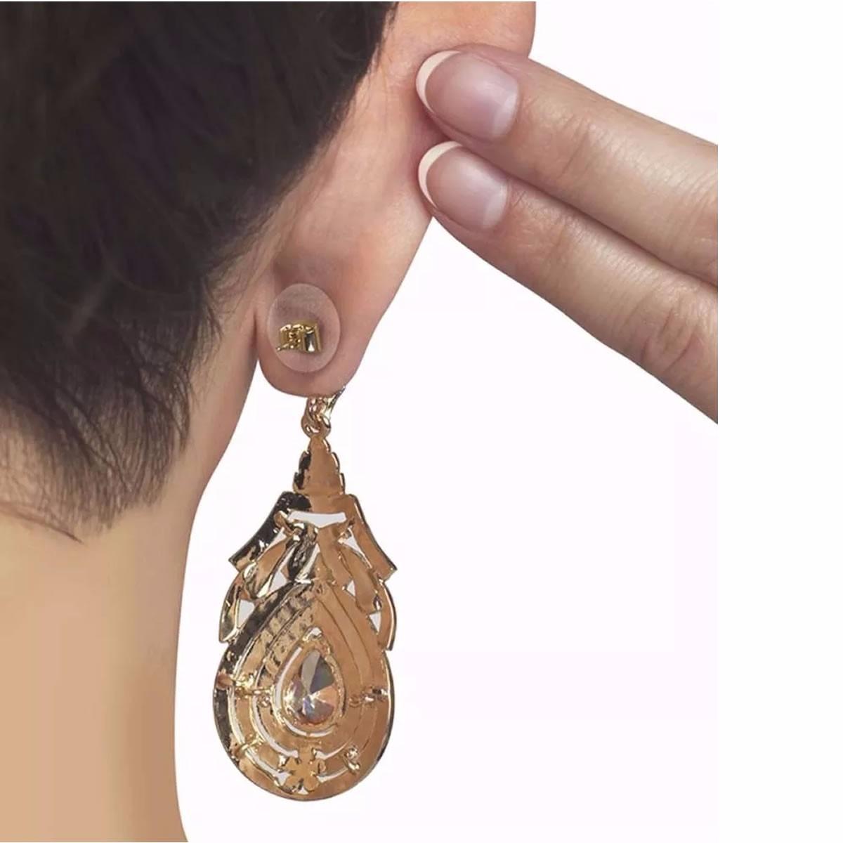 Artesanato Com Materiais Variados ~ Ear Lift Adesivo De Sustenç u00e3o Para Brinco Em Orelha Rasgada R$ 34,99 em Mercado Livre
