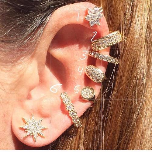 earcuff piercing falso fake orelha ear cuff prata ouro grafi