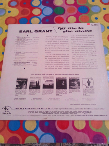earl grant lp fly me to the moon. importado u.s.a.