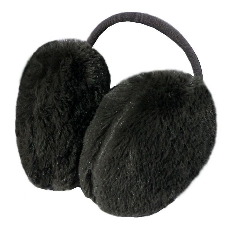 earmuff felpudo preto inverno protetor aquecedor de orelhas. Carregando  zoom. c8eb87b6cca