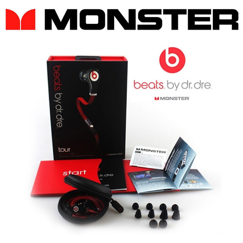 earphone beat beats monster tour by dre red on ear dr