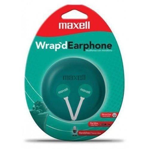 earphone wr 360 w'rapd stereo flat wire verde maxell (10653)