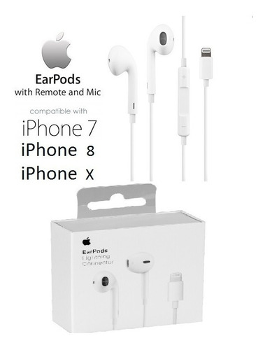 earpods lightning 100% apple, iphone 7, 8, xs, 11pro