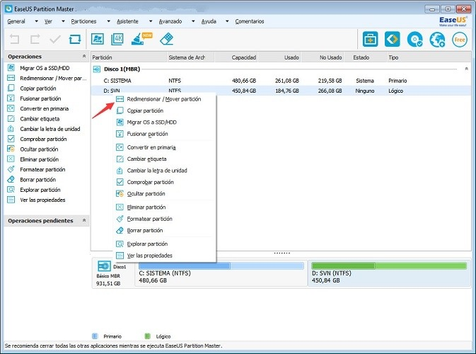 easeus partition master professional edition 11.10