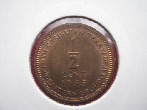 east caribbean states 1/2 cent 1955 escasa
