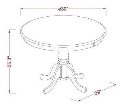 east west muebles eden redonda mesa de altura madera noble