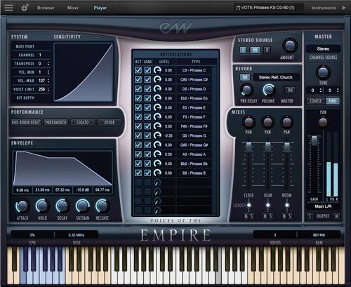 eastwest voice of empire intrumento virtual vocales original