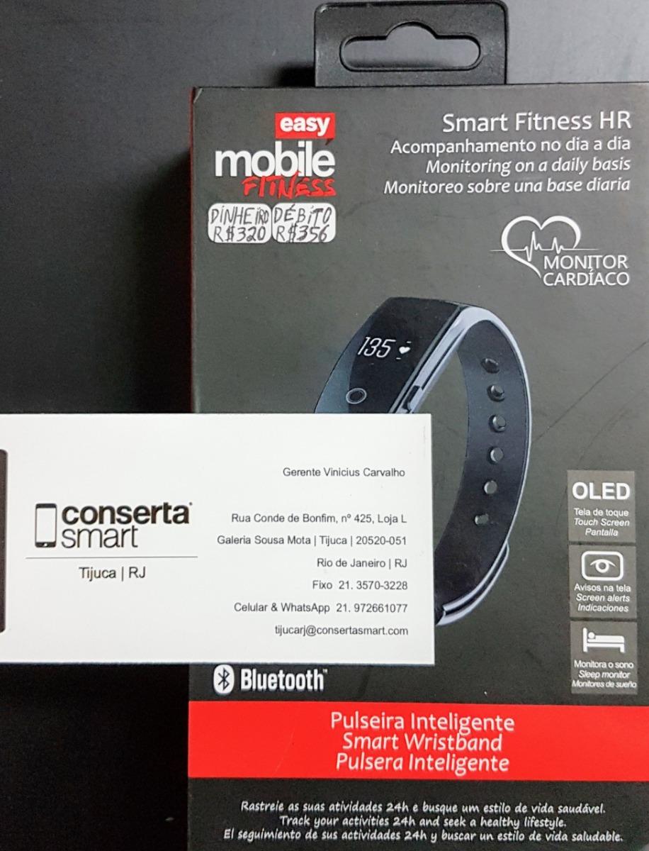 7ec4fda58fd Easy Mobile Fitness Smart Fitness Hr Preto - R  360