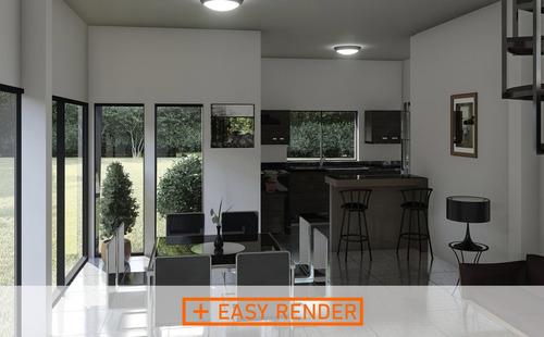 easy render, 3d, video recorrido, 360