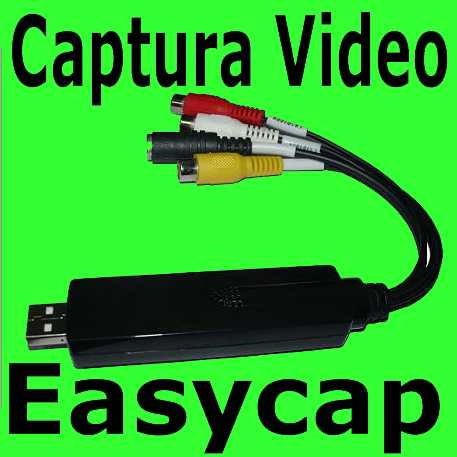 easycap tarjeta capturadora usb 2 rca audio video pc laptop