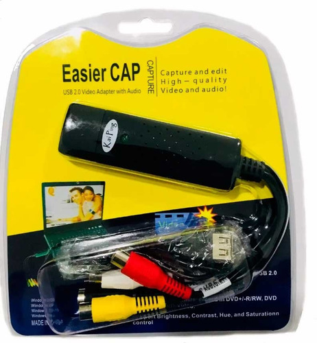 easycap tarjeta capturadora usb 2.0 rca audio video