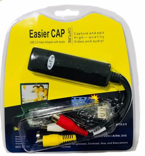 easycap tarjeta capturadora usb 2.0 rca s-video audio video