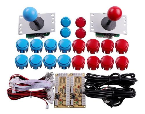 easyget 2 player arcade juego diy parts pc joystick usb p