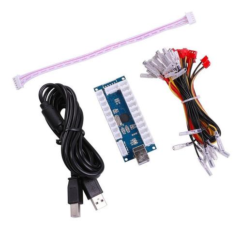 easyget led arcade diy parts 2x encoder usb zero delay +.