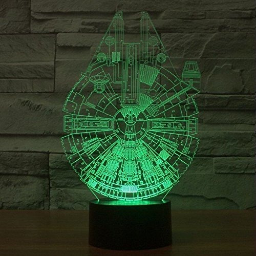 easyinsmile 3d led night star star wars halcon milenario lam
