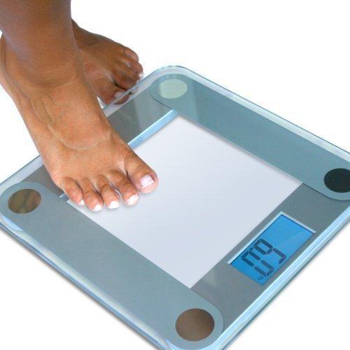 eatsmart balanza digital de precisión para baño, con visual