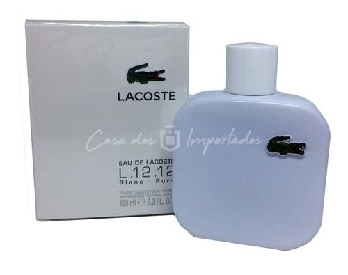 eau de lacoste l.12 12 blanc 100ml masculino + amostra
