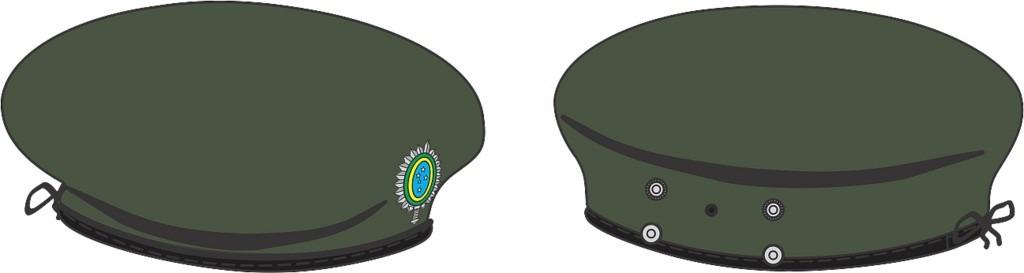 eb316 boina francesa verde oliva (lyon) com símbolo - tam.59. Carregando  zoom. 8103ac42676