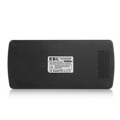 ebl 12 ranura cargador para aa/aaa/9v + 8 x aa + 2 x 9v 600m