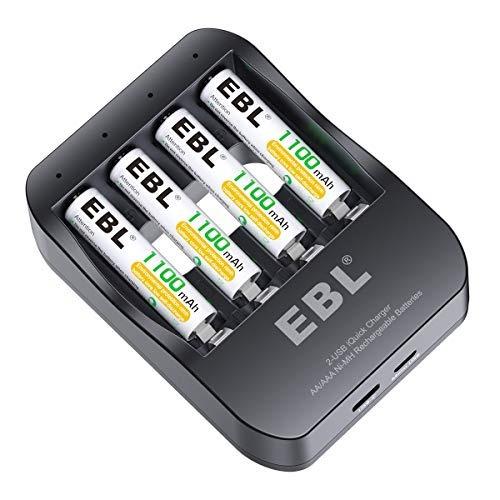 ebl 2usb iquick individual cargador con 4 cuentas 1100 mah a