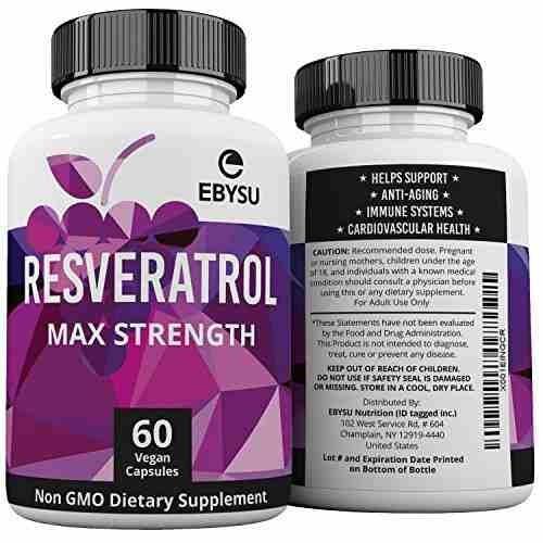 ebysu resveratrol - 1200mg fuerza máxima