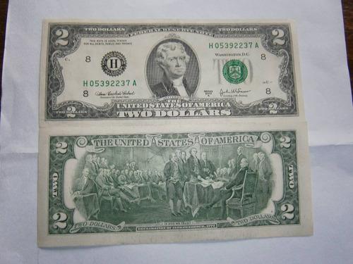 ec* billete de 2 dolares estados unidos, sin circular, 2003