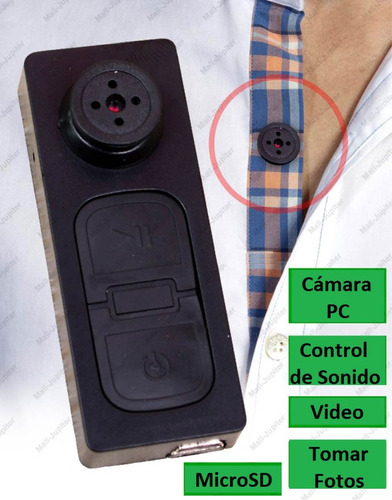 ec camara espia/oculta boton c/vibracion