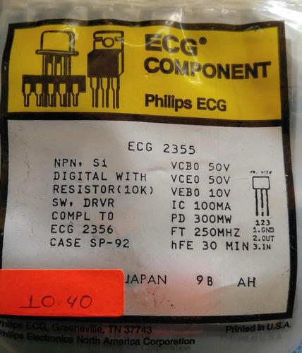 ecg2355 transistor npn digital 8 piezas