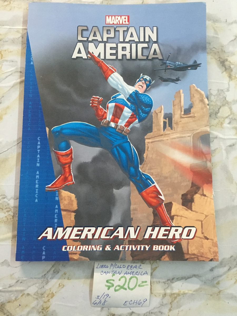 Ech69. Libro P/ Colorear Marvel Capitán América. Precio Unit ...