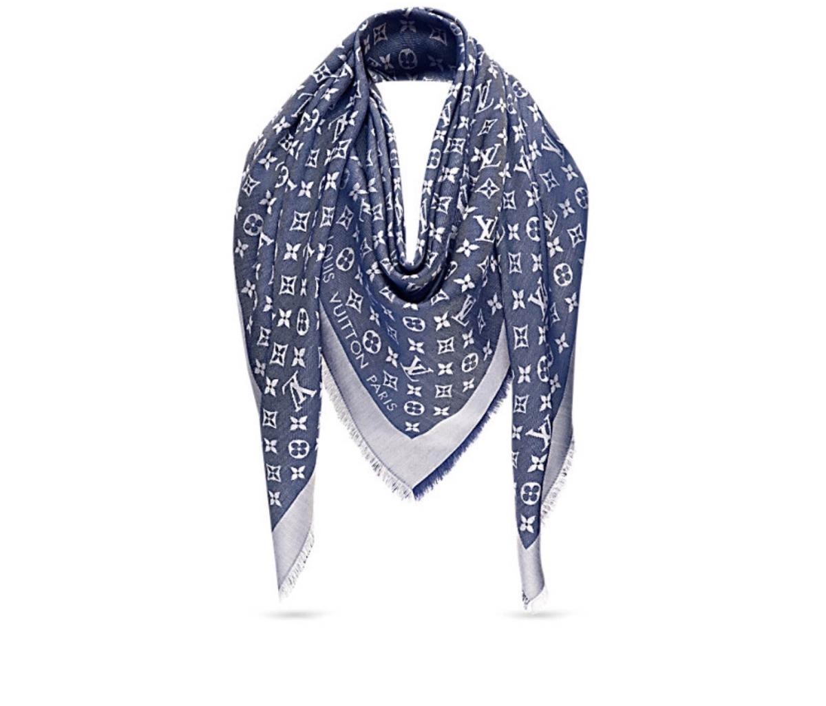 Echarpe pashmina Louis Vuitton Xale Monogram Denim - R  249,00 em ... 88bfae80aae