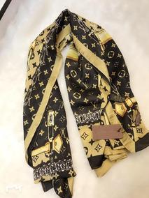 ae6394cc17777 Pashmina Louis Vuitton Marrom Com Dourado Echarpe - Acessórios da Moda no  Mercado Livre Brasil