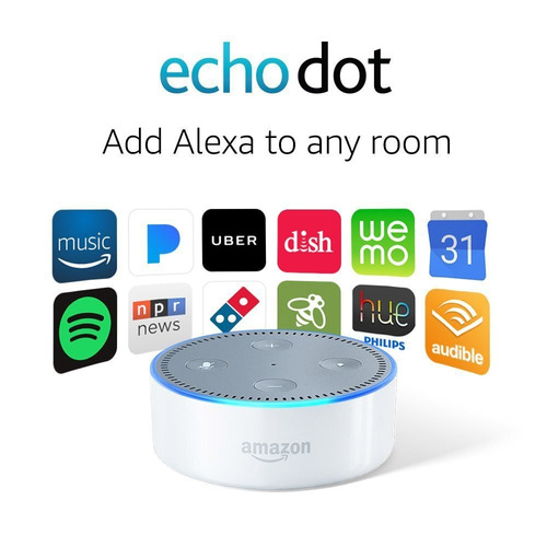 echo dot (2nd generation) - blanco y negro