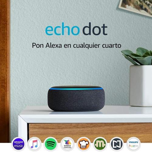 echo dot (3ra generación) - bocina inteligente con alexa