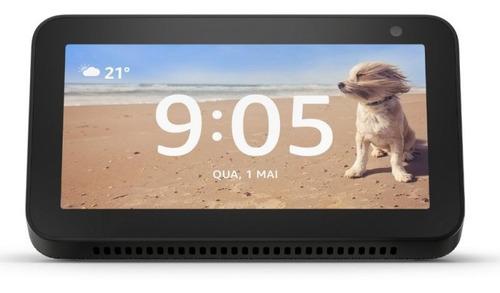 echo show 5 amazon smart speaker preta alexa em portugues co