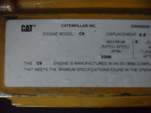 ecm para excavadora 330d caterpillar con motor c9